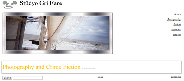 Screenshot of grifare website in July 2008